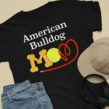 American Bulldog Dog Mom and Dad Comfy Cute Dog Lover T-Shirt