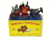 Matchbox Lesney Y4-2 Shand Mason Fire Engine In Type D1 Box (RARE BRONZE HORSES)