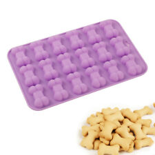 18-Cavity Dog Bone Silicone Muffin Pan Biscuit Cake Chocolate Baking Tray Moulds