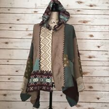 Sleeping On Snow Womens Os Patchwork Assembly Cape Mixed Pattern Anthropolgie