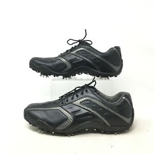 Footjoy Superlite Cleats Golf Shoes Spiked Low Top Lace Up Leather Black Mens 8M