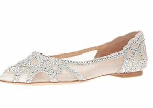 Badgley Mischka Gigi Ivory Ballet Flats Size 5M US Formal Wedding Free shipping