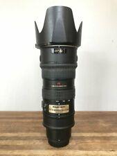 Nikon 70-200mm f2.8G lens