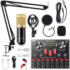 More details for v8s condenser microphone bundle studio recording & broadcasting bm-800 high fide