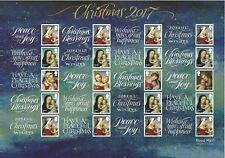 GREAT BRITAIN 2017 CHRISTMAS SMILERS SHEET UNMOUNTED MINT, MNH