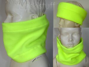 Infant Yellow scarf snood NECK WARMER baby girls boys NEON hiVis school safety