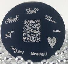 Round Nail Stamping Plates Manicure Pedicure Nail Art 104