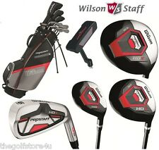Wilson Prostaff HDX Complete Golf Club Set & Stand Bag Steel New