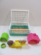 """New listing My Life 18"""" Doll Pet Set Hedgehog & Hamster w Cage Toys & Food Playset"""