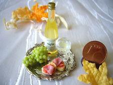 =kleines WEIN-Set= Puppenstubenminiatur Lebensmittelminiatur 1:12 / 1:10 by HW