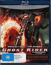 GHOST RIDER - BLU-RAY ALL REGIONS (2007) Nicolas Cage Eva Mendes LIKE NEW