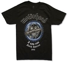MOTORHEAD I SAW YOU SOB 2012 TOUR BLACK T-SHIRT NEW OFFICIAL ADULT SMALL S