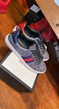 Gucci Black GG Supreme Ace Sneakers size 42 US size 9