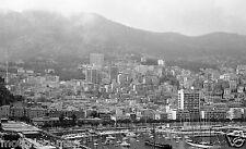 MONACO GRAND PRIX 1966 SKYLINE & BOATS IN THE HARBOUR PHOTOGRAPH FORMULA ONE