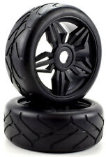Apex RC Products 1/8 On-Road Black Diamond Wheels / Super Grip Tires #6025