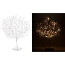 Lichterzweige: Moderner Lichterbaum mit 25 warmweißen LEDs, 50 cm, weiß