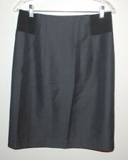 Mac & Jac Skirt Size 10 Black Career Skirt Elastic Side Panels Stretch Pencil