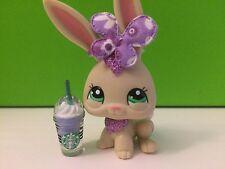 Littlest Pet Shop # 2208 Sparkle Long Ear Rabbit Accessories Included