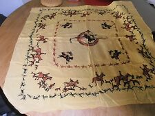 1950s Fox Hunting Yellow Scarf
