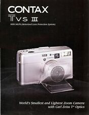 CONTAX T VS III 35mm CAMERA BROCHURE -CONTAX TVS III-CARL ZEISS LENSES
