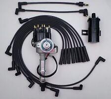 PONTIAC 350-389-400-455 BLACK Small HEI DISTRIBUTOR + Black 45K Coil +Plug Wires