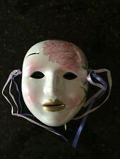 "Ceramic Decorative Face Mask - Wall Hanging - 7"""
