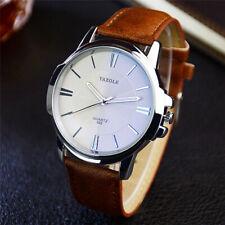 Fashion Watch Mens Watches Quartz Analog Wristwatch Leather Strap Alloy Case