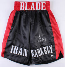 Iran Barkley Signed Boxing Trunks (JSA COA)