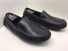 Loake Silverstone. Black Mens Driving Loafers - UK Size 8 - Supple Leather Upper