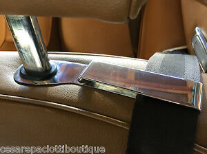 Jensen Interceptor Seat Belt Guides Stainless Steel