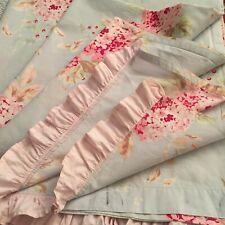 Rachel Ashwell Simply Shabby Chic Hydrangea Shower Curtain RUFFLE Rose 70Wx75L
