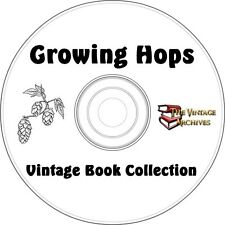 Growing Hops Vintage How To Book Collection on CD -  Beer, Microbrewing, brewing