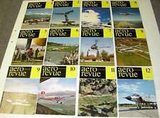 1963 AERO REVUE MAGAZINE COMPLETE SET 0F 12 aeroplanes airplanes aircraft flying
