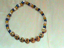 San Diego Chargers beaded bracelet