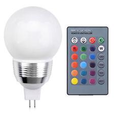MR16 3W RGB LED Lampe Licht Beleuchtung Farbwechsel Glühbirne Fernbedienung