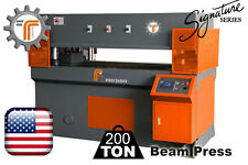 NEW!! CJRTec 200 Ton Beam Press - Automatic Die Cutting Machine