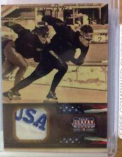 "2012 Americana Heroes & Legends Dan Jansen Gold ""USA"" Worn Relic 2/10"