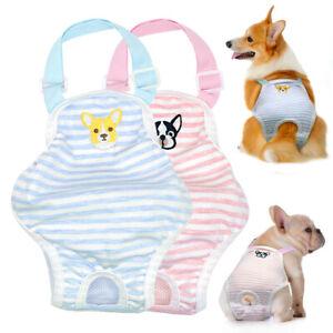 Dog Sanitary Pants Soft Striped Female Dog Nappy Diaper Pet Shorts Underwear