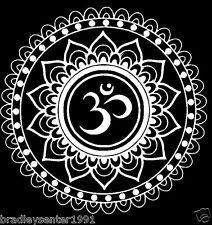 Lotus Flower Decal Car Window Laptop Namaste Yoga India OM Vinyl Sticker Cute