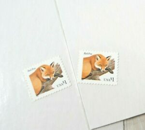 US Stamps Red Fox $1 Single Stamp Lot of 2 Sealed New Unused