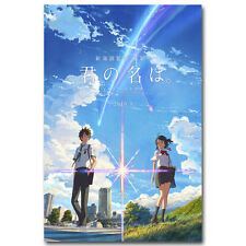 Your name Cartoon Movie Art Silk Poster Print 12x18 24x36 inch Wall Decoration