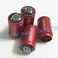 Aluminum Red Ultra Matting Car Wheel Tyre Tire Stem Air Valve Cap For KIA Motors