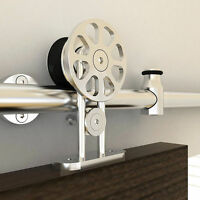 6.6FT stainless steel sliding barn wood door hardware top mounted hanger track