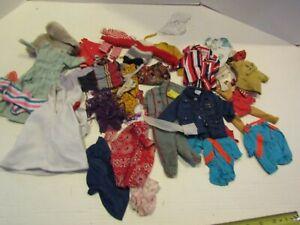 VINTAGE LOT BARBIE KEN FASHION DOLL CLOTHING CLOTHES OUTFIT COATS PANTS
