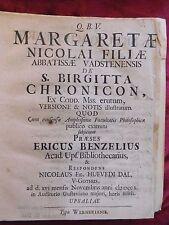 1710 Nils Dal BIRGITTA CHRONICON Uppsala 1710 Emanuel Swedenborg