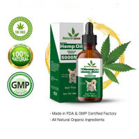 Beef Flavor -Hemp Oil for Dogs Cats Pets (5000mg) - Calming Drops -100% Organic
