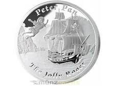 $1 Jolly Roger Peter Pan Tuvalu Famous Ships That Never Sailed 1 oz Silver 2014
