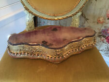 Fabulous francese antico giltwood gesso e velluto Orologio Display Stand Base