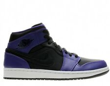 Nike Air Jordan 1 Mid Black/Dark Concord Men's Basketball Shoes Size 9.5