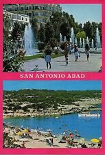 Picture POSTCARD of SAN ANTONIO Abad IBIZA 1982 fountains beach Balearic Island